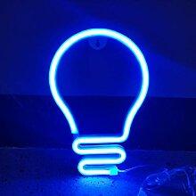 Ampoule Neon Signs LED Enseigne Murale Au Néon,