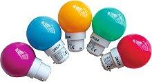 Ampoule sphérique multicolore LED B22 pour