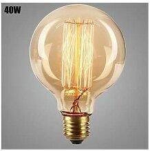 Ampoule vintage incandescente 40W E27 G95 bulb