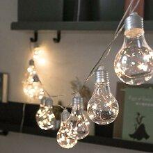 Ampoules féeriques à piles de 4M 10, guirlande