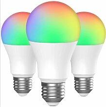 Ampoules LED couleur (un groupe de 3), 7W RGBW