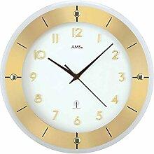 AMS 5850 Horloge Murale Radio-pilotée en métal