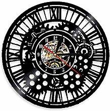 Amulette décoration Murale Disque Vinyle Horloge