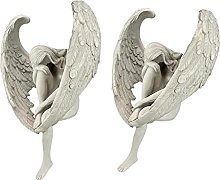 AMUZOCITY 2 Pcs Ange Statue Figurine Maison