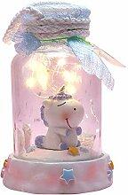 Amycute Mini Licornes Éclairage sous Cloche en