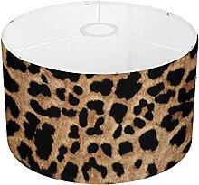 Amzbeauty Abat-jour léopard en peau de léopard