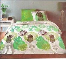 Ananas Vert - Parure de couette - Lit 2 Places - 3