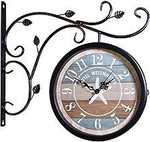 Anazoo Horloge de Gare Double Face, Horloge Murale