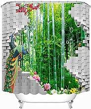 ANAZOZ Rideau de Douche Fleurs de La Forêt de