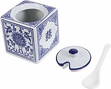Angoily Céramique Porcelaine Sucrier Sucrier Pot