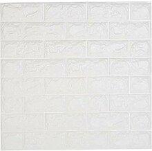 ANHIOK 5 PCS 3D papier peint de brique blanche,