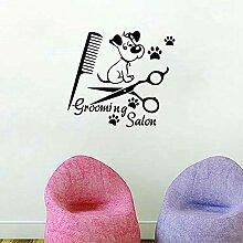 Animalerie sticker mural salon de toilettage pour