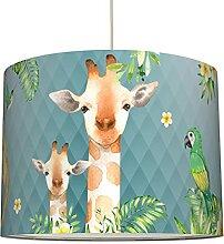 anna wand lampe suspendue Jolly Jungle bleu -