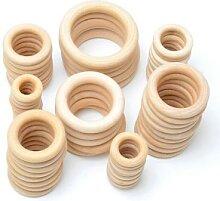 Anneau de dentition en bois naturel pour bébé,