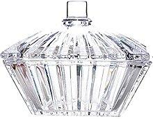 Annfly Bol à bonbons en verre transparent avec