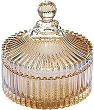 Annfly Bonbonnière en verre avec design en
