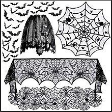 ANSET Lot de 5 décorations d'Halloween -