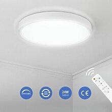 ANTEN 24W Plafonnier LED avec Télécommande