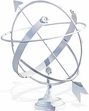 Antikas – Horloge solaire en fer, blanc, horloge
