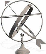 Antikas – Horloge solaire en fer, gris, horloge