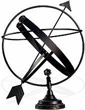 Antikas – Horloge solaire en fer, noir, horloge