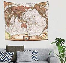 Antique Central Pacific Géographique Carte Du