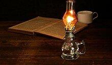 Antisue Vintage verre Kérosène Lampe Camping