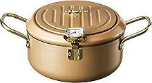 ANTKING Marmite à frire 304 avec thermomètre en