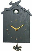 ANYDERTS Horloge Murale en Bois, Horloge Murale