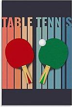 APAZSH Tableau Decoration Murale Tennis de Table