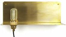 Applique avec prise 90° / Etagère - Frama or en