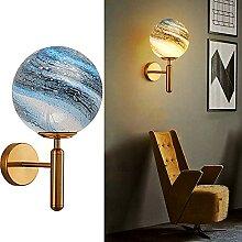 Applique Chambre Adulte Dore Dimmable LED Laiton