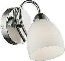 Applique chrome verre luminaire de plafond couloir