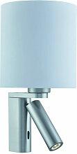 Applique cylindrique Adjustable Wall avec liseuse,