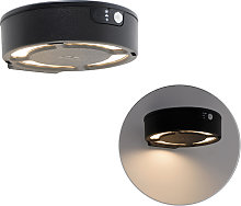 Applique d'extérieur noire IP55 avec LED avec