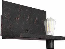 Applique design lampe or noir patiné connexion