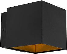 Applique Design noir / or avec LED - Caja Moderne