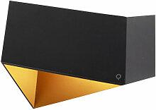 Applique Design noire avec doré - Fold Qazqa