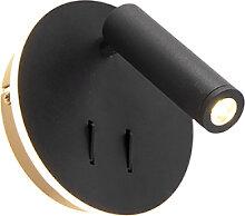 Applique design noire avec LED - Mario