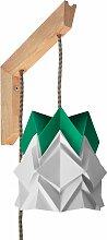 Applique en bois et petite suspension origami en