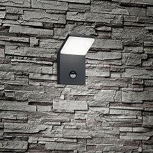 Applique grise avec LED IP54 avec détecteur de