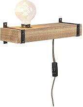 Applique industrielle bois USB - Reena Qazqa