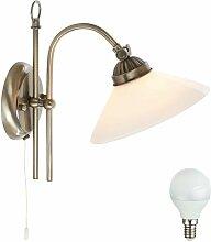 Applique LED luminaire mural lampe DEL laiton