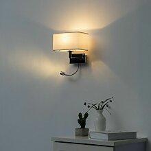 Applique Liseuse à LED Blanc design métal/tissu