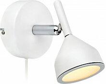 Applique murale BELL blanche 1 ampoule