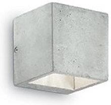 Applique murale en béton Cubox simple au design