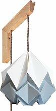 Applique murale en bois et suspension origami en