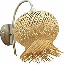 Applique murale en rotin Lampe en bambou Applique