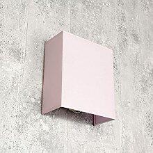 Applique murale en tissu - Abat-jour rose - E27 -