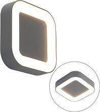 Applique murale et plafonnier carré gris IP54 -